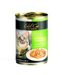 Консервированный корм для кошек Edel Cat Нежные кусочки в СОУСЕ с индейкой и печенью
