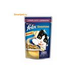 Консервированный корм для кошек Felix Sensation - с уткой и шпинатом в желе100г