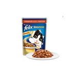 Консервированный корм для кошек Felix Sensation - с говядиной и томатами в желе100г